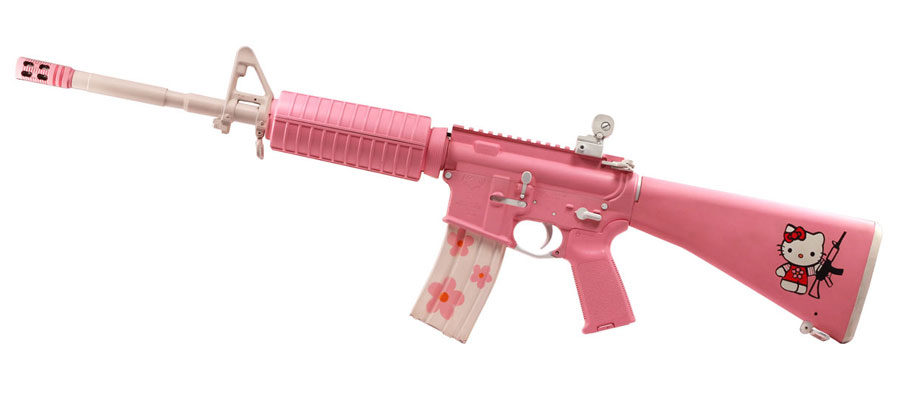Terrifying Hello Kitty AR-15